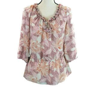 Banana Republic Top Small Beige Floral